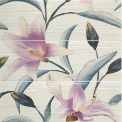 DECOR SET(3) ADRIANA TURQUESA/PURPURA 20x60 dekorų kmplektas