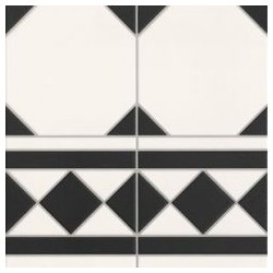 OXFORD NEGRO CENEFA 33.3x33.3 grindų plytelė