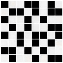 Mozaika czarno-biala 25x25 mozaikinė plytelė