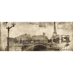 Post card beige 1 inserto 20x50 dekorinė plytelė
