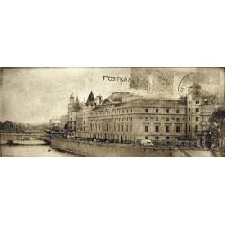 Post card beige 2 inserto 20x50 dekorinė plytelė
