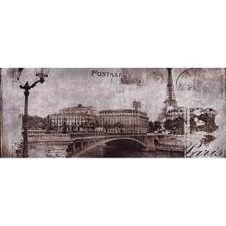 Post card grey inserto 1 20x50 dekorinė plytelė